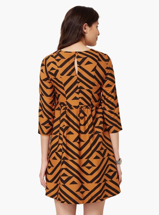 MAX Flared Printed Dress