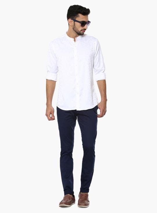 MAX Jacquard Print Chinese Collar Shirt