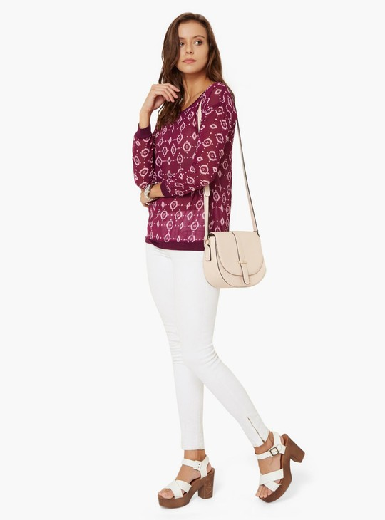MAX Printed Full Sleeves Blouse