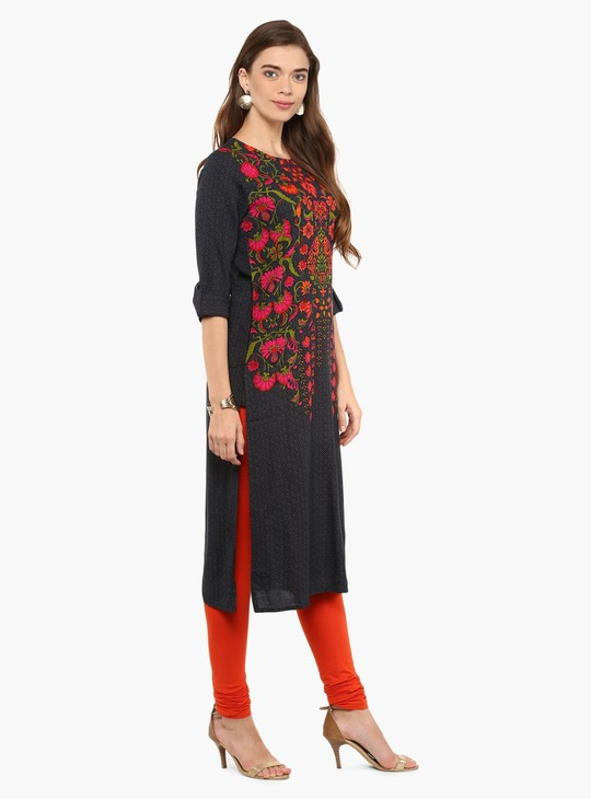 MAX Printed Roll-Up Kurta