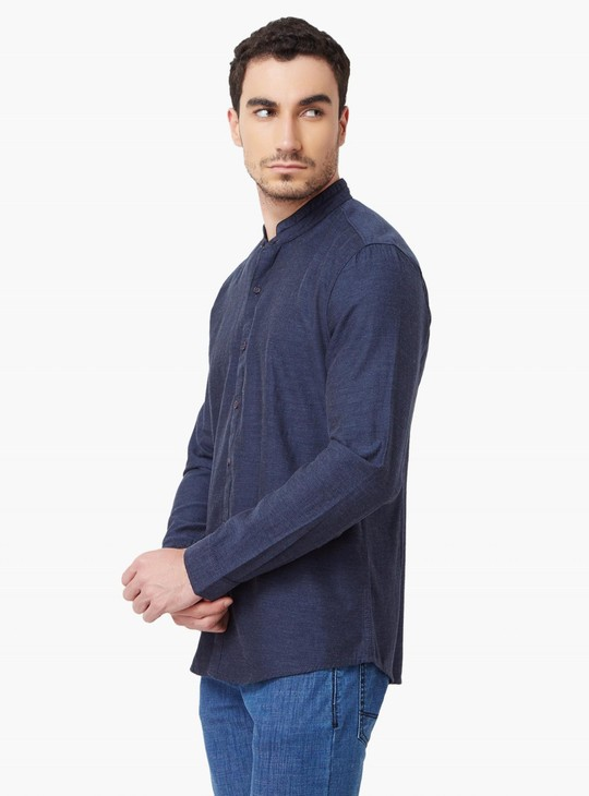 MAX Band Collar Full Sleeves Shirt
