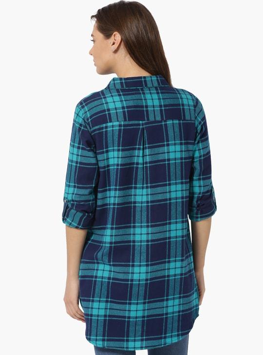 MAX Checkered Yarn Dyed Tunic