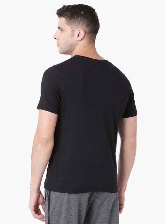 MAX Solid V-Neck Half Sleeves T-Shirt