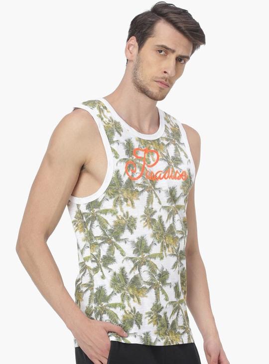 MAX Tropical Printed Muscle T-Shirt