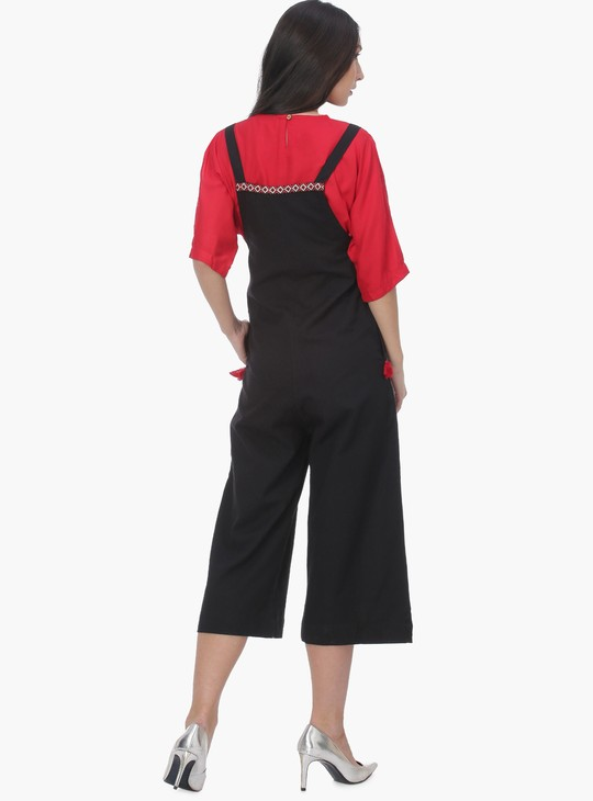 MAX Embroidered Ethnic Dungaree Set