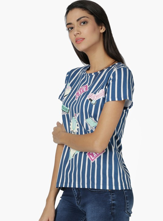MAX Casual Printed Round Neck T-Shirt