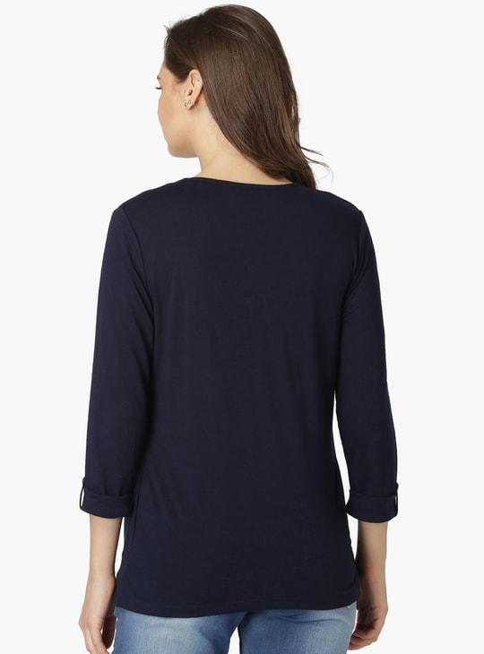 MAX Printed Full Sleeves Layered T-Shirt And Shrug