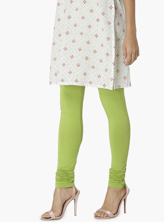 MAX Solid Stretch Churidar Leggings