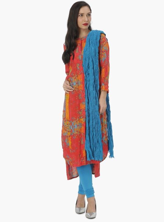 MAX Solid Crinkled Effect Dupatta