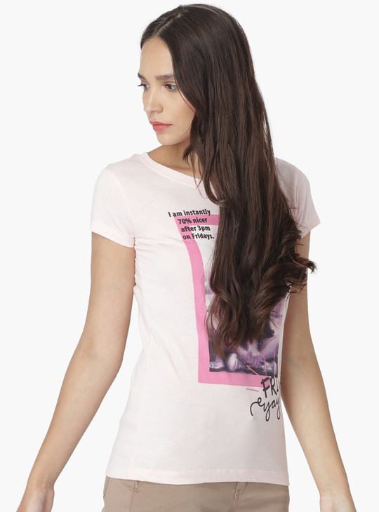MAX Friday Print Round Neck T-Shirt