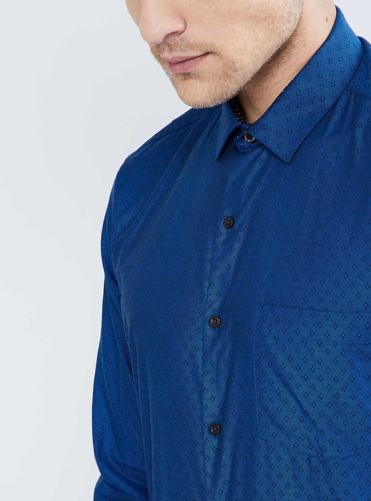 MAX Patch Pocket Printed Formal Shirt