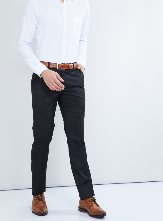 MAX Solid Flat-Front Chinos
