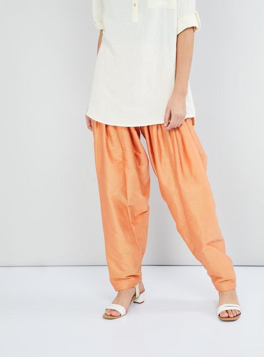 MAX Solid Woven Patiala Pants