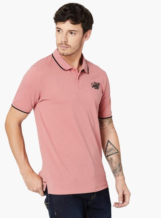MAX Melange Pique Polo Neck T-Shirt