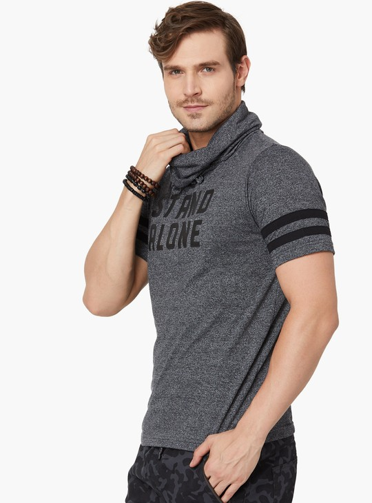 MAX Grindle Printed Cowl Neck T-Shirt