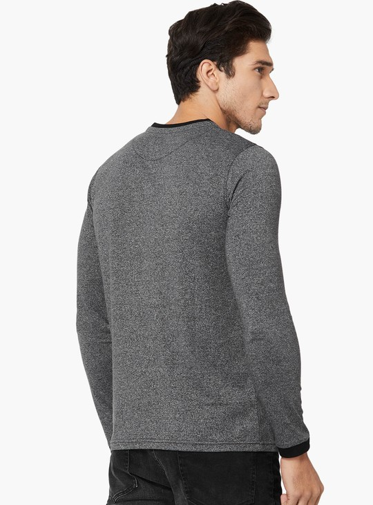 MAX Grindle Layered Henley Neck T-Shirt