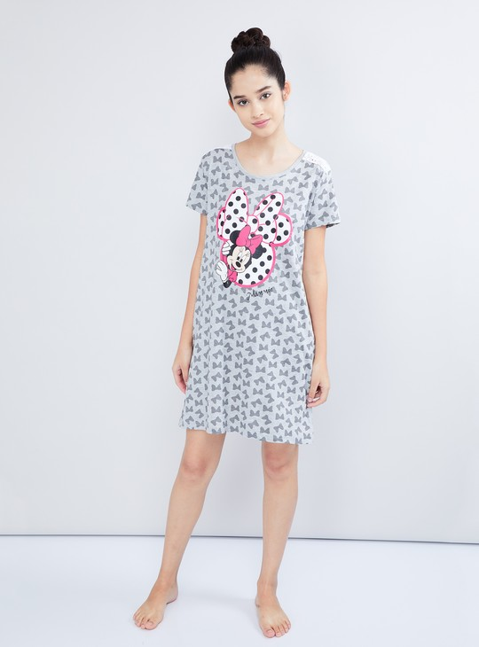 MAX All-Over Minnie Mouse Print Chemise