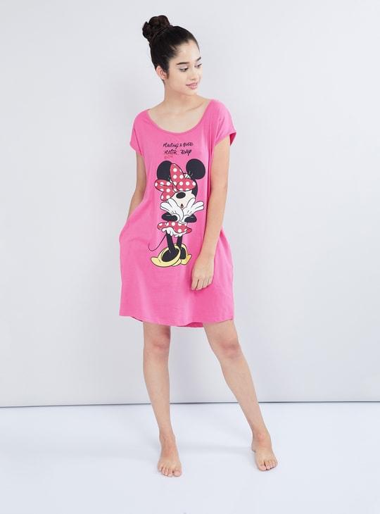 MAX Minnie Mouse Print Cotton Chemise