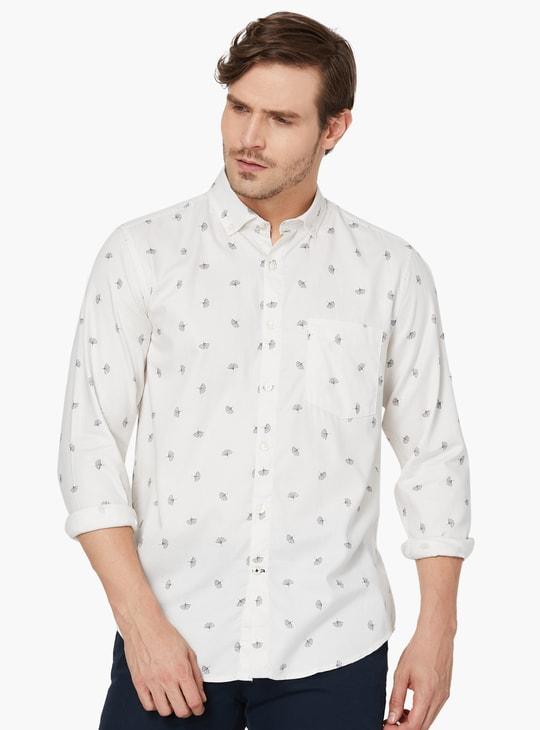 MAX Printed Button-Down Collared Shirt