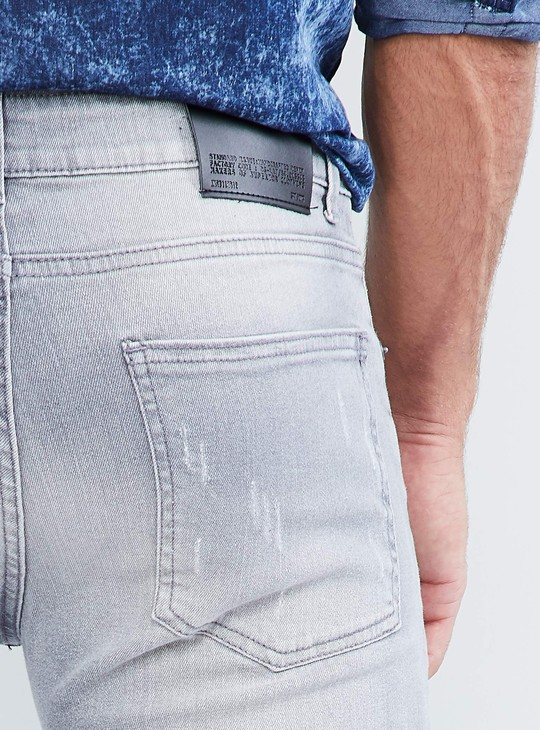 MAX Mid-Washed Distressed Jeans