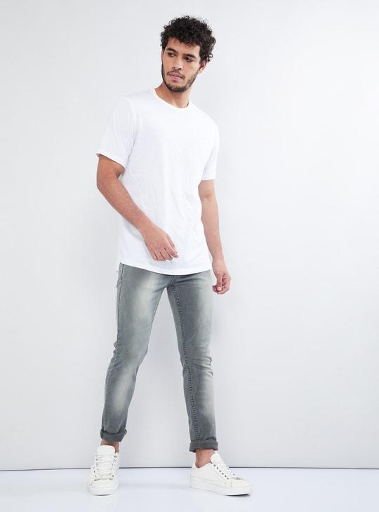 MAX Stonewash Skinny Fit 5-Pocket Jeans