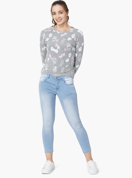 MAX Printed Overlapped Sweatshirt