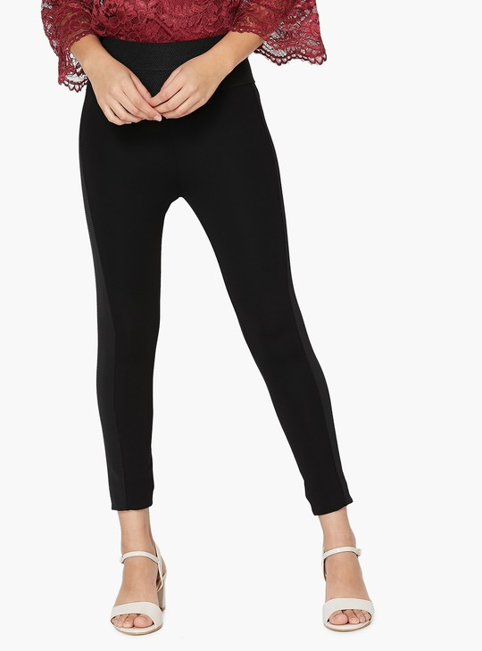 MAX Contrast-Panelled Knitted Tights