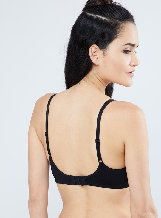 MAX Solid Fagotting Stitch Bra