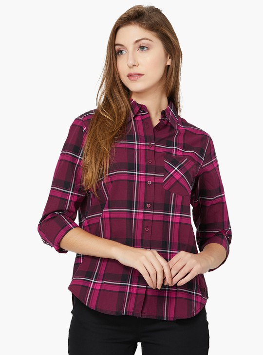 MAX Checkered Long-Sleeved Shirt
