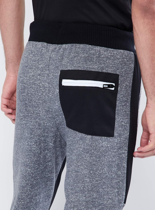 MAX Melange Knitted Panelled Trackpants
