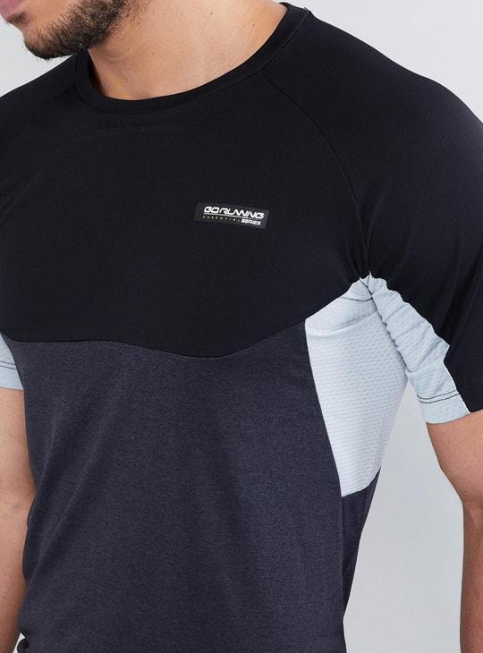 MAX Panelled Crew Neck Raglan Sleeve Running T-shirt