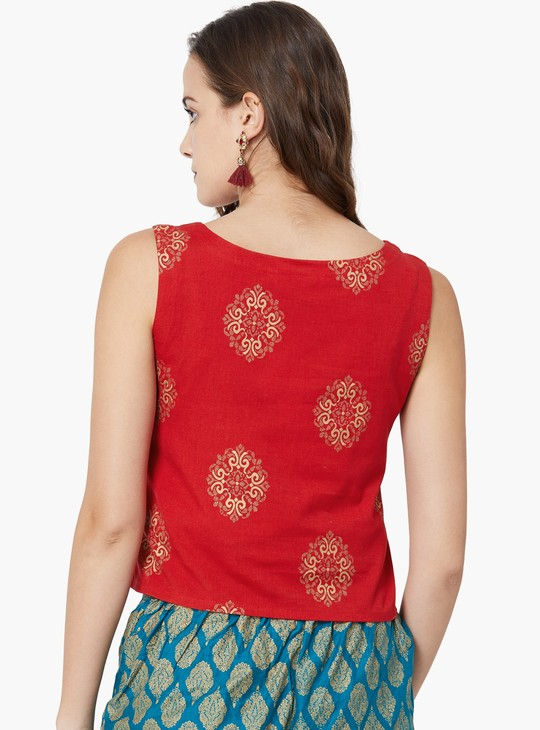 MAX Printed Sleeveless Top