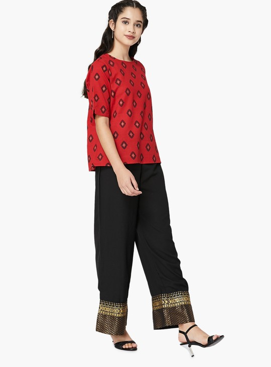 MAX Printed Relaxed Fit Top