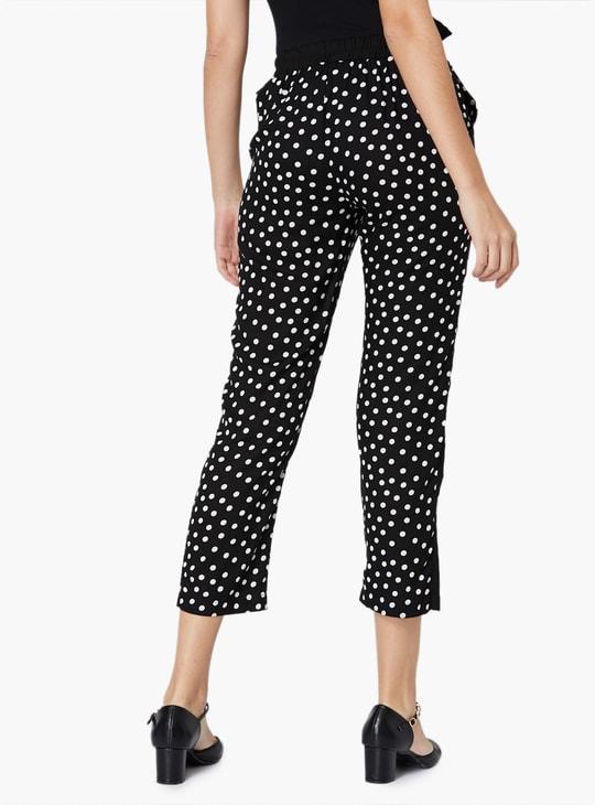 MAX Polka Printed Panelled Pants