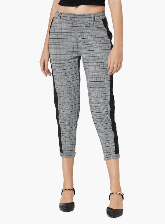 MAX Checkered Side Panelled Pants