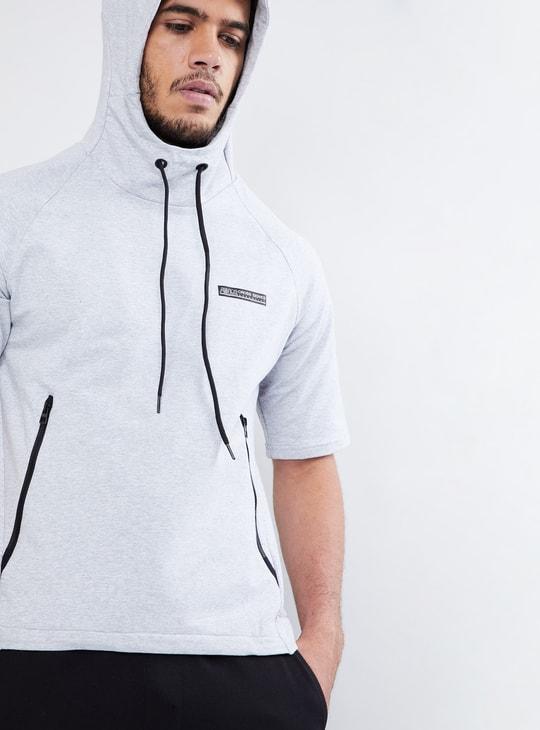 MAX Solid Zip Pocket Hooded Sweatshirt