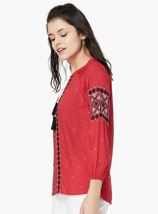 MAX Embroidered Tie-up Top