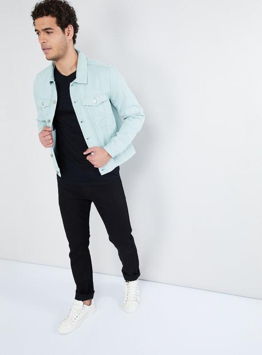 MAX Solid Full Sleeves Denim Jacket