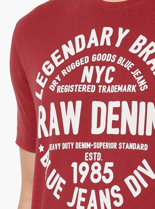 MAX Typography Print Crew Neck T-shirt