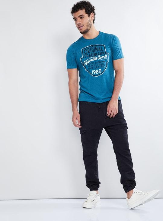MAX Printed Melange Crew Neck T-shirt