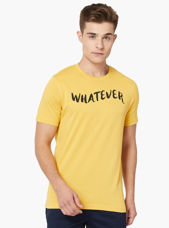 MAX Chest Printed Crew Neck T-Shirt