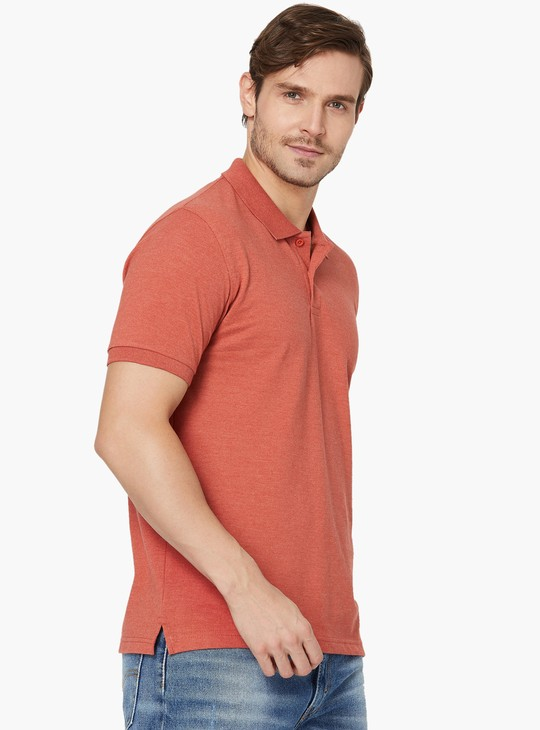 MAX Solid Pique Knit Polo T-shirt