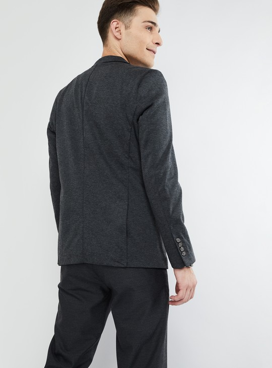 MAX Textured Single Breasted Blazer