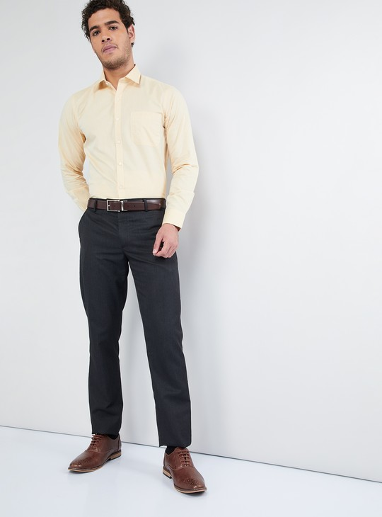MAX Solid Fil-A-Fil Formal Shirt