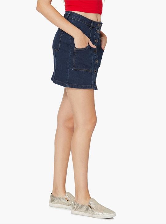 MAX Denim Mini Skirt