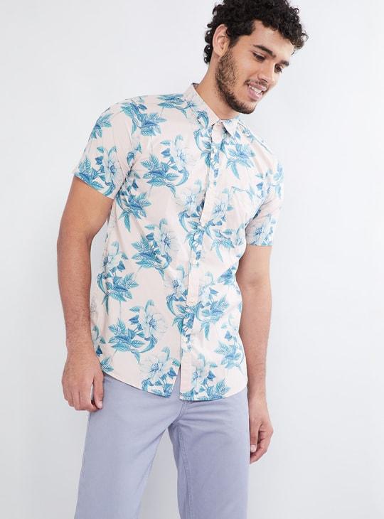 MAX Floral Print Short-Sleeve Shirt