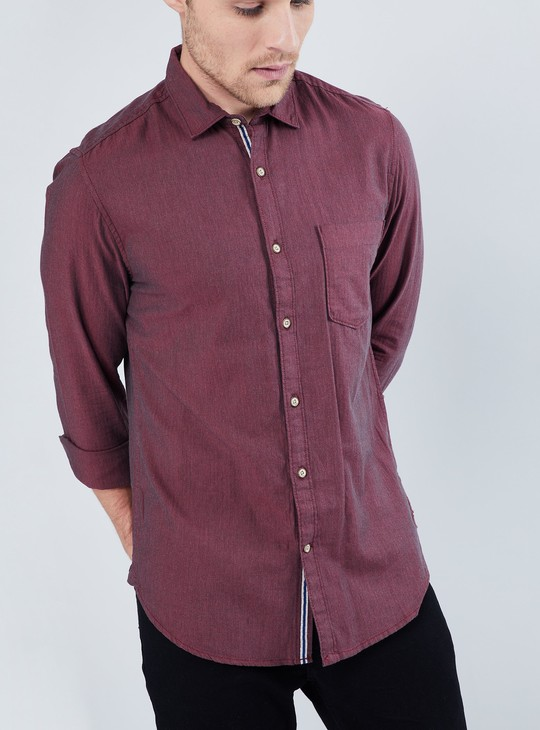MAX Textured Knit Long-Sleeve Shirt