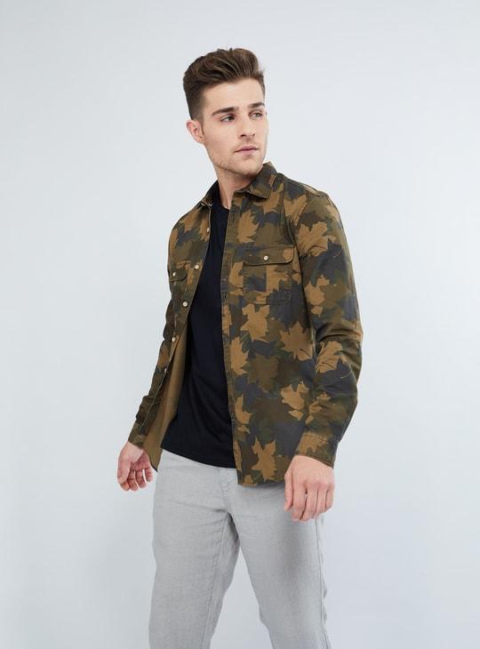 MAX Camouflage Print Long-Sleeve Cotton Shirt