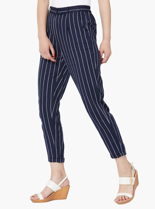 MAX Nautical Stripe Pleated Trousers