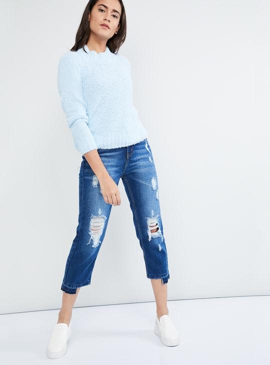 MAX Raglan Sleeve High-Neck Sweater